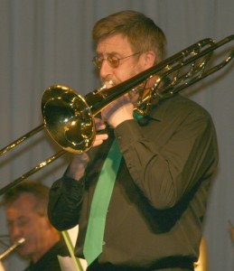 Willem Flisijn op trombone